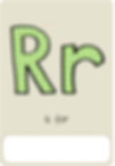 Make your own letter r book with this letter r book cover template.