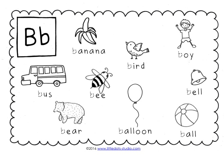 preschool letter b activities and worksheets. Black Bedroom Furniture Sets. Home Design Ideas