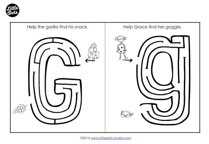 Letter G Maze