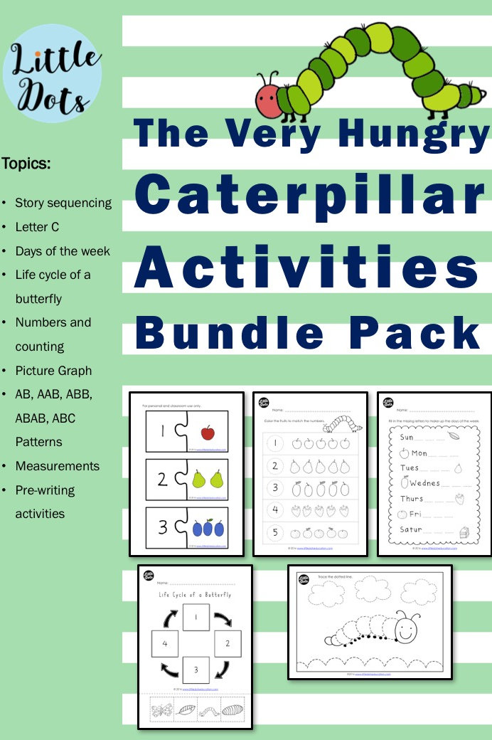 graphic about Very Hungry Caterpillar Printable Activities known as The Fairly Hungry Caterpillar Actions Offer Pack