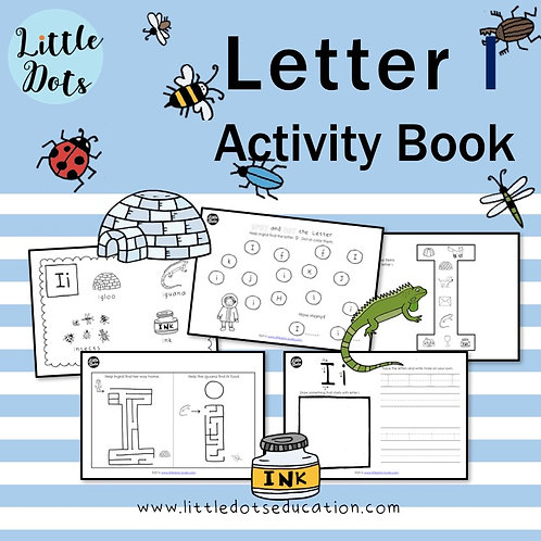 Letter I Activity Book