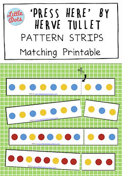 Free Pattern Strips Matching printable based on the book Press Here by Herve Tullet
