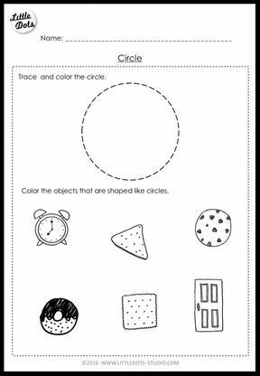 PreK Math Shapes Worksheets and