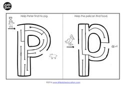 letter p maze