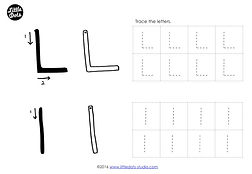 preschool letter l activities and worksheets. Black Bedroom Furniture Sets. Home Design Ideas