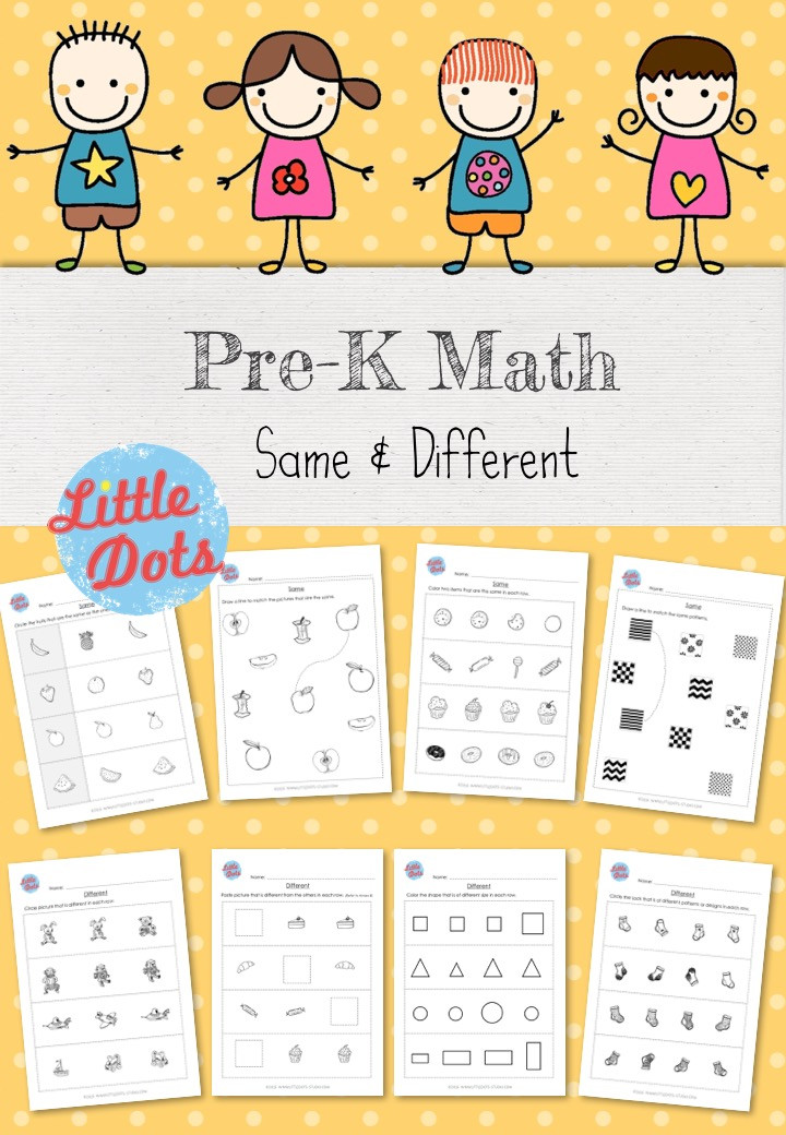 Same & Different Workbook for Pre-K