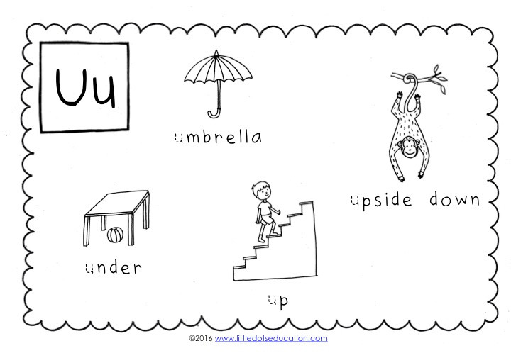 preschool letter u activities and worksheets. Black Bedroom Furniture Sets. Home Design Ideas