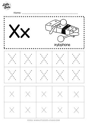 Free Letter X Tracing Worksheets Little Dots Education Preschool