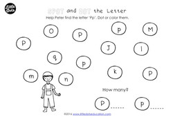 help peter find the letter p