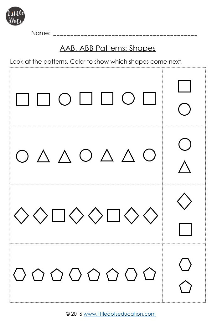 Little Dots Education | Preschool Printables And Activities | Aab