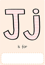 Make your own letter j book with this letter j book cover template.