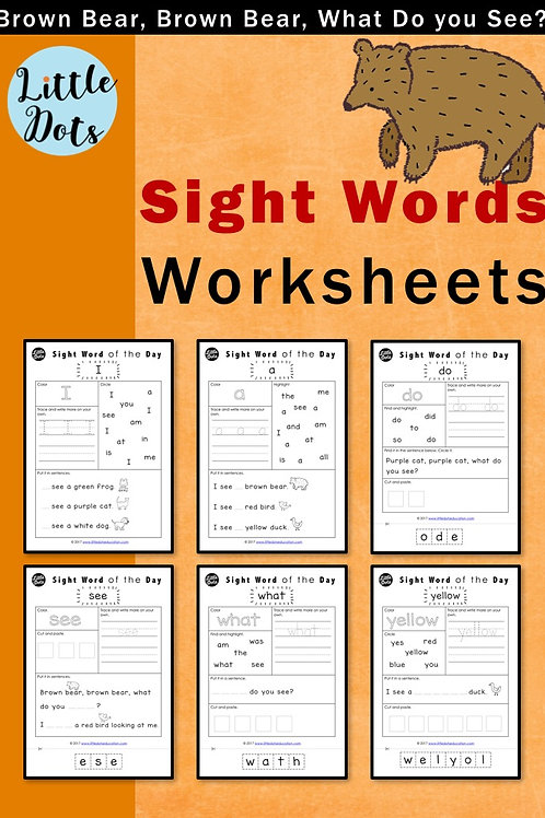 Brown Bear, Brown Bear, What Do You See? theme activities on sight words