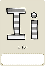 Make your own letter i book with this letter i book cover template.
