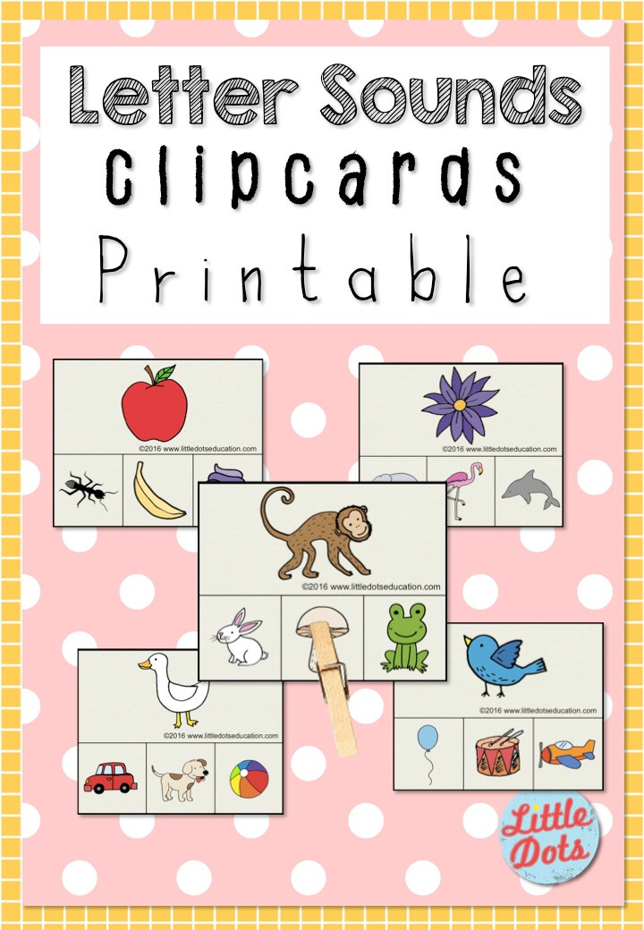 Free Letter Sounds clip cards printable