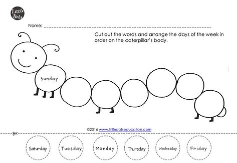 photograph relating to Very Hungry Caterpillar Printable Activities named The Fairly Hungry Caterpillar Topic: No cost Times of the 7 days