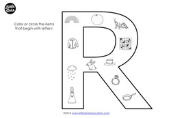 letter r sound worksheet
