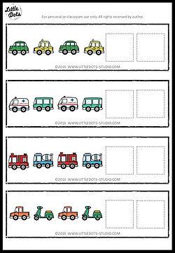 Free AB patterns strips printable for preschool