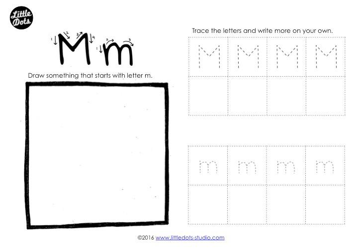Letter M Tracing Worksheet