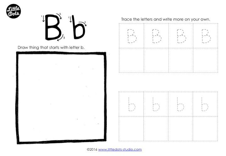 Letter B Tracing Worksheet