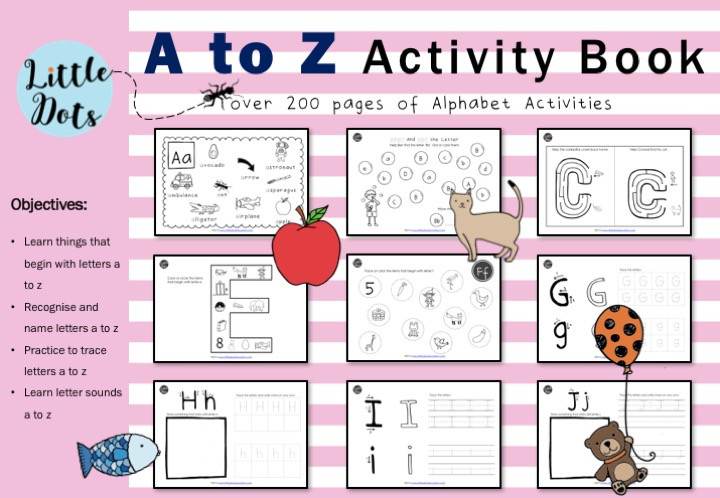 Preschool Letter A to Z Activities and Worksheets