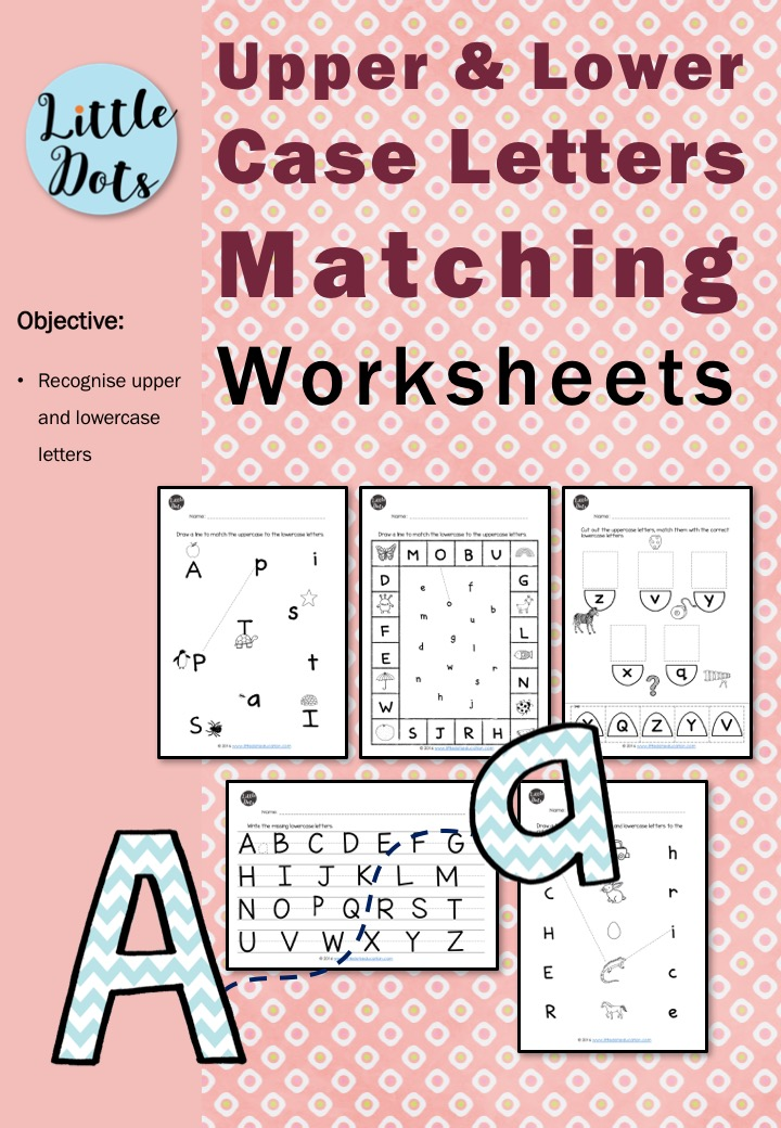 Matching Uppercase and Lowercase Letters Worksheets – Matching Upper and Lowercase Letters Worksheets