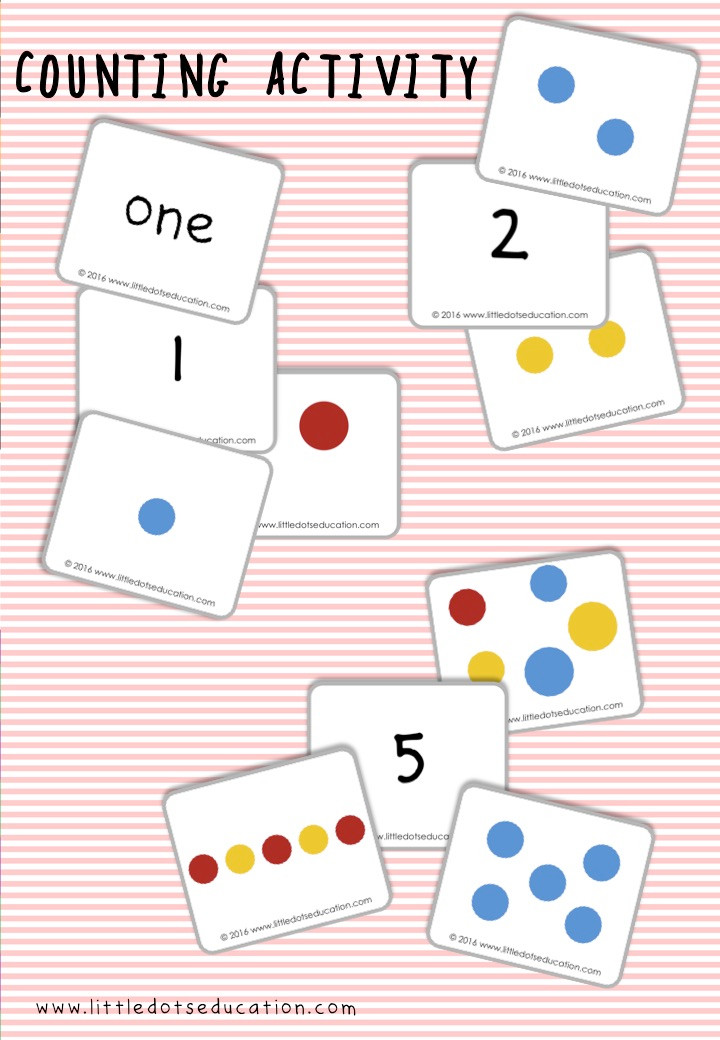 Dots Counting Flashcards and Printable inspired by the book Press Here by Herve Tullet. Practice to count up to ten with this free counting printable.