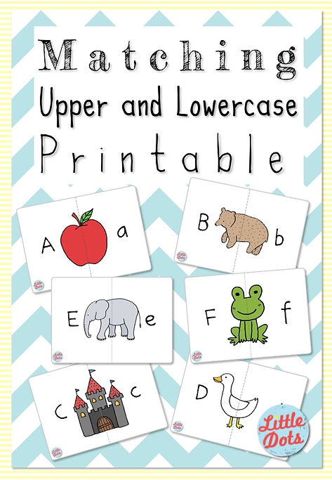 photograph about Free Printable Uppercase and Lowercase Letters Worksheets identified as No cost Printable: Matching Uppercase and Lowercase Letters