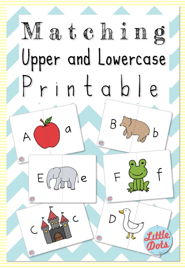 matching upper and lowercase letter printable