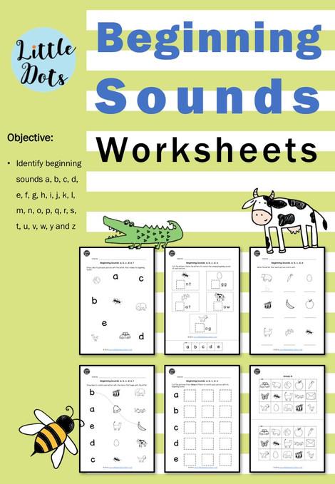 Beginning sound m worksheets kindergarten