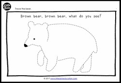 Brown Bear tracing activity