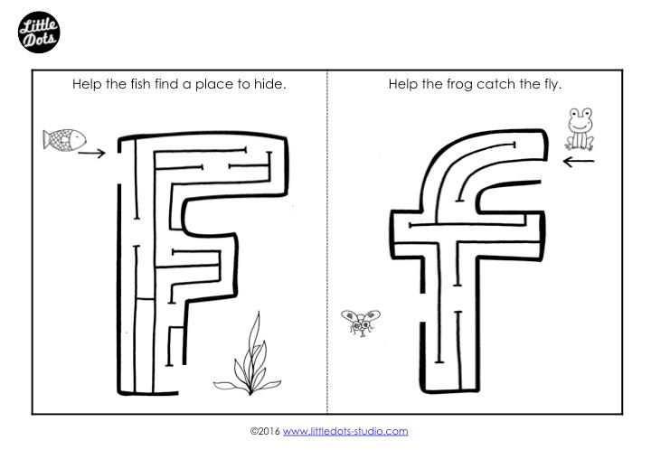 Letter F Maze