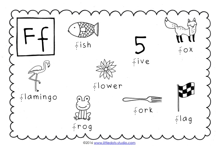 Preschool Letter F Activities And Worksheets Little Dots