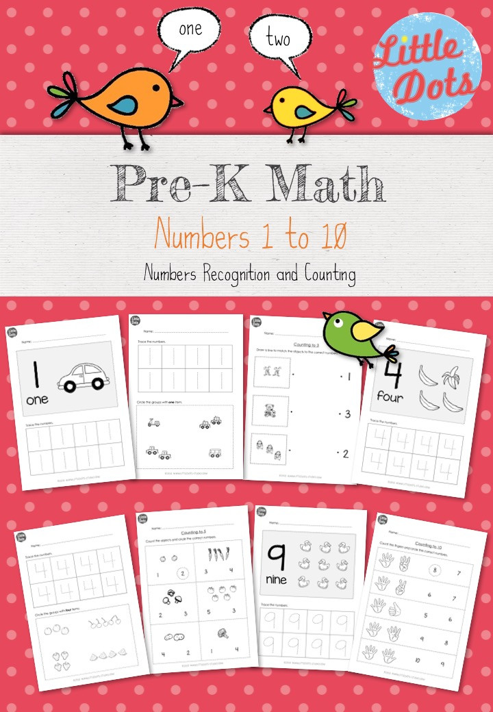 Numbers 1 to 10 Workbook for Pre-K