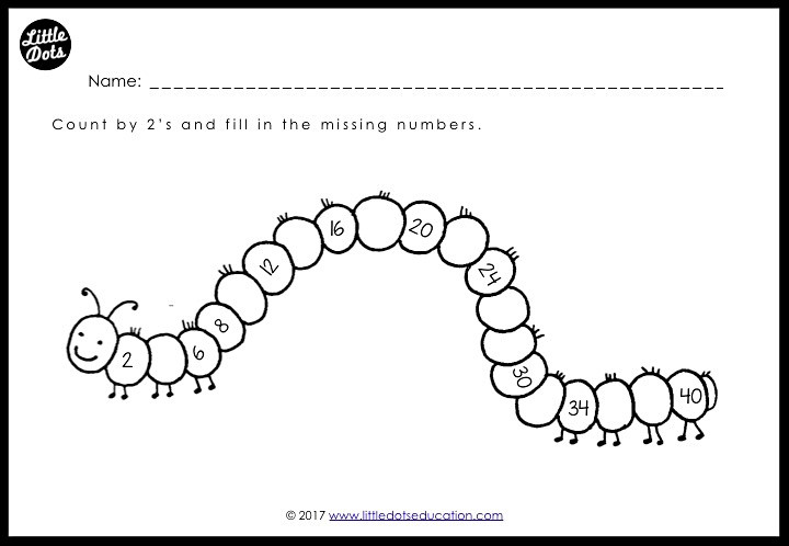 Free skip counting by 2 activity