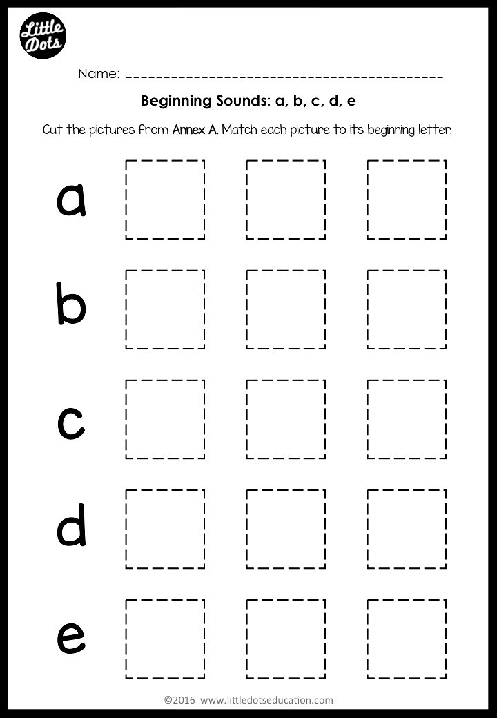 beginning sounds activities for preschool or kindergarten