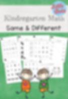 Same and Different Worksheets and Activities for Kindergarten