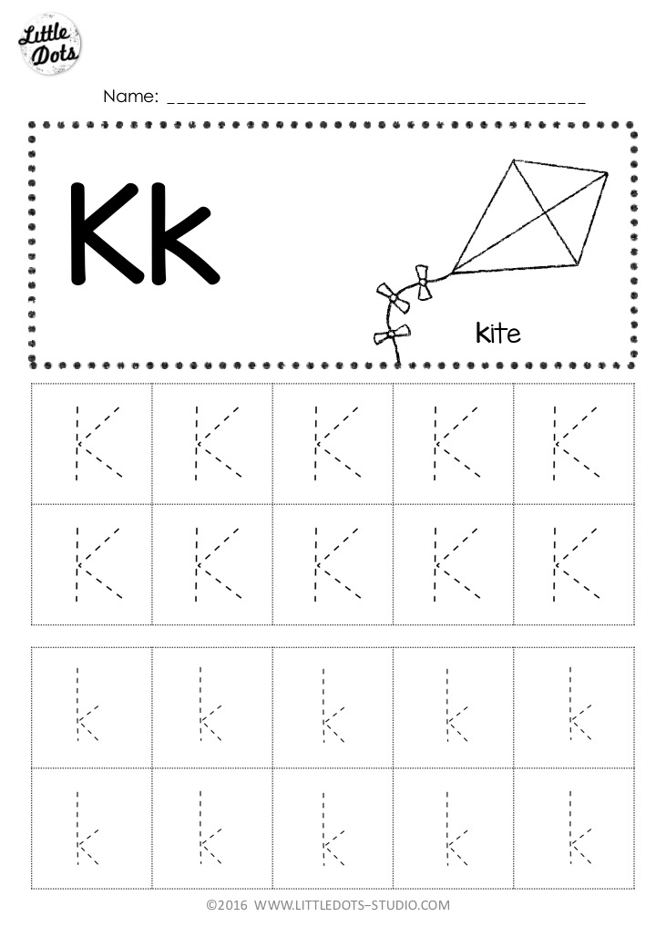 free letter k tracing worksheets. Black Bedroom Furniture Sets. Home Design Ideas