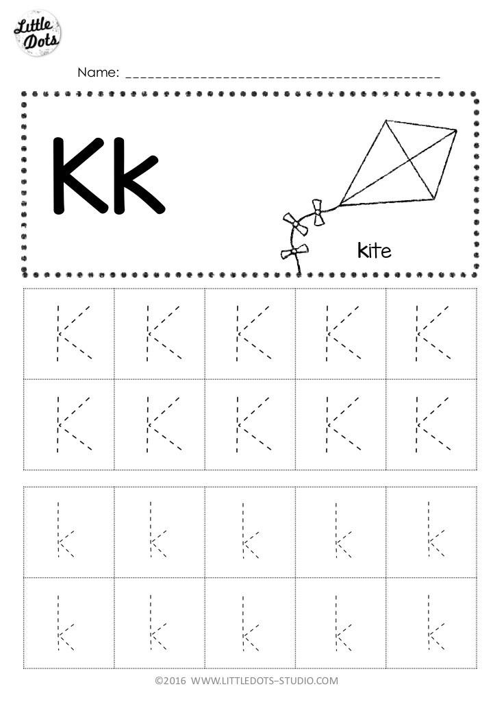 Free Letter K Tracing Worksheets