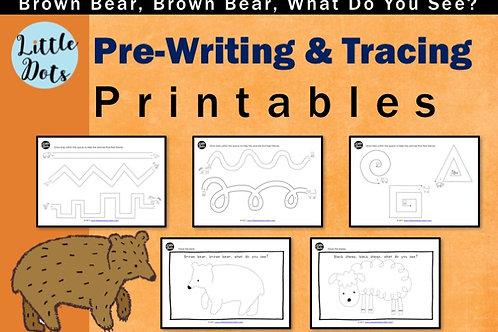 Brown Bear, brown bear what do you see? preschool theme pre-writing activities