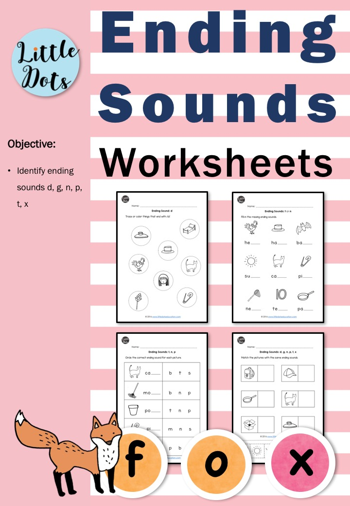 Ending Sounds Worksheets And Activities