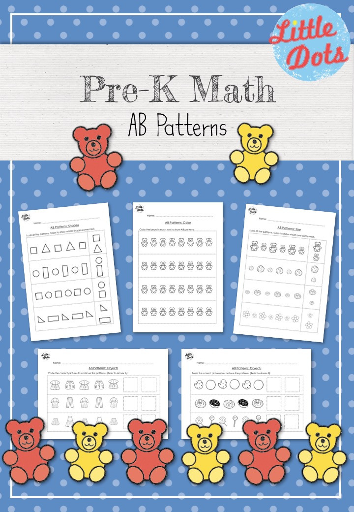 AB Patterns Workbook for Pre-K