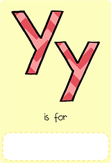 Make your own letter y book with this letter y book cover template.