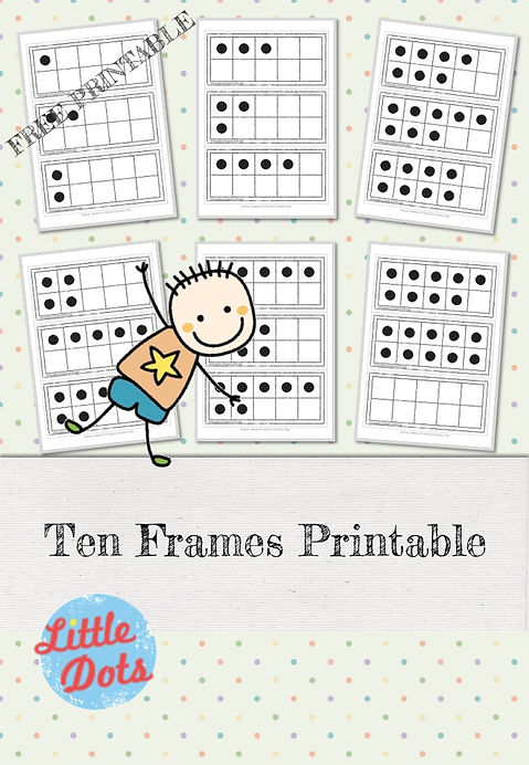 photograph about Ten Frames Printable named Absolutely free 10 Frames Printable