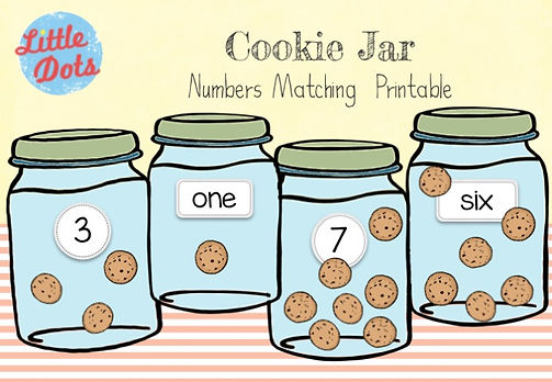 Free Cookies Counting Printable. Practice to count one to one correspondence with this printable.