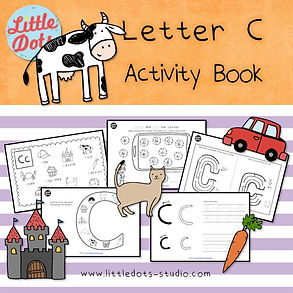 Preschool letter c activities and worksheets. It includes letter c poster, spot and dot the letter c activity, letter c maze, letter c beginning sound worksheets and letter c tracing activities.