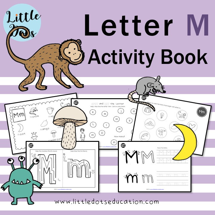 Letter M worksheets and activities