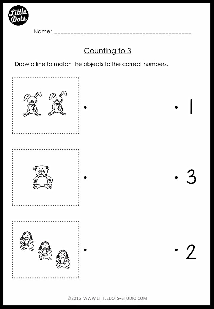 Counting and matching activity for pre-k