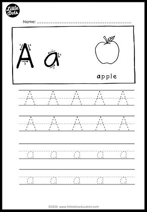 free alphabet tracing worksheets little dots education. Black Bedroom Furniture Sets. Home Design Ideas