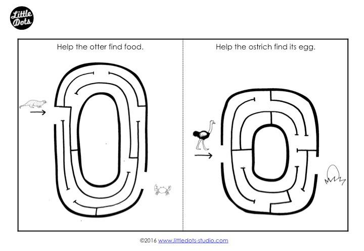 Letter O Maze