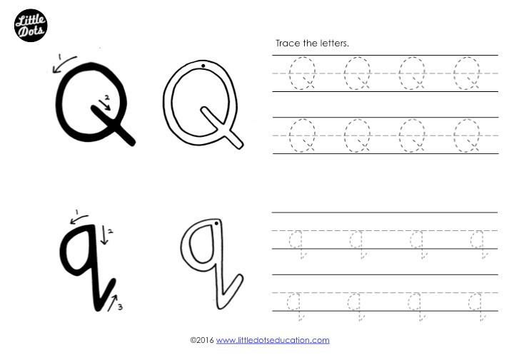 Letter Q Tracing Worksheet